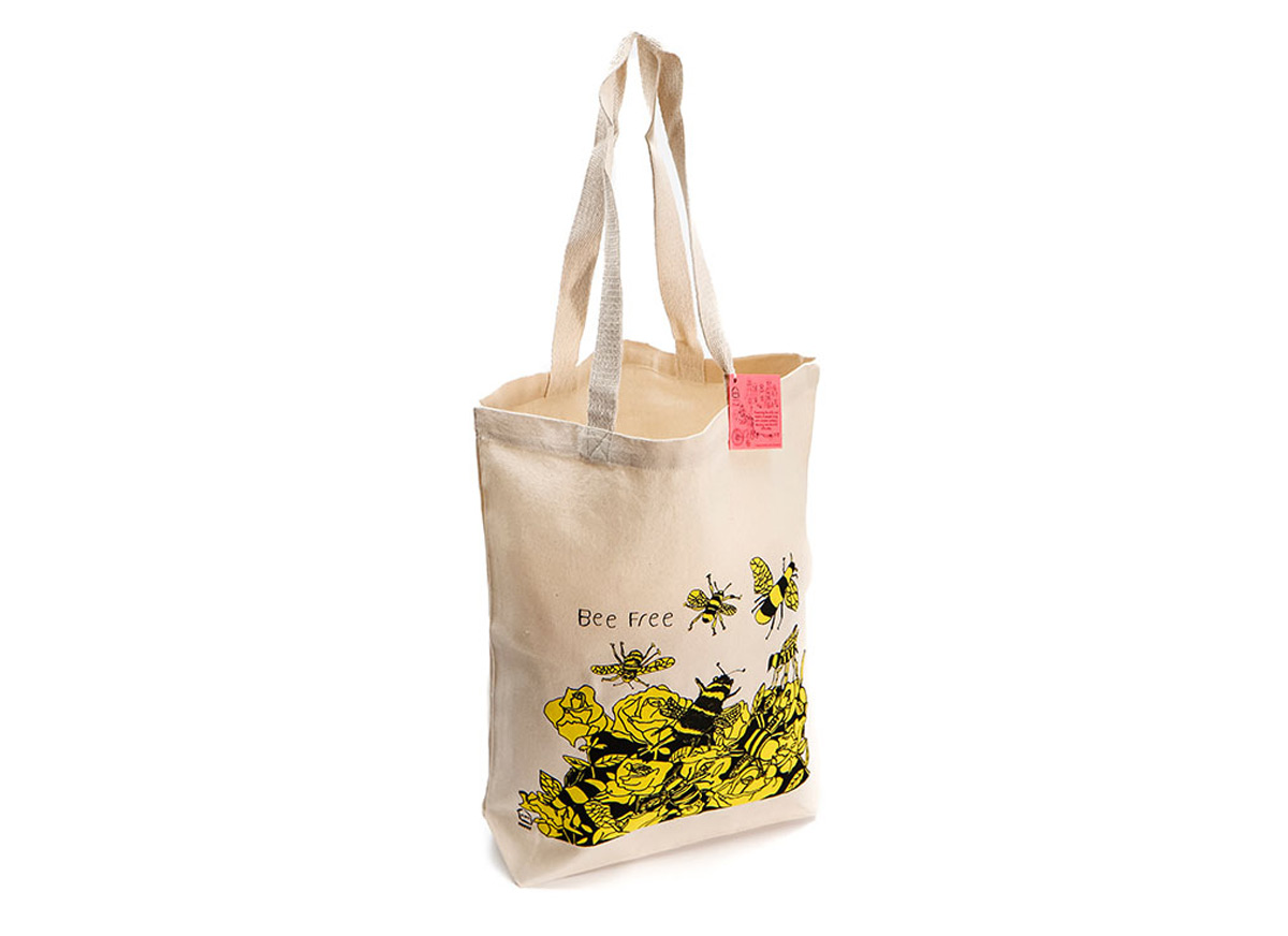 Bee Free Canvas Tote Bag