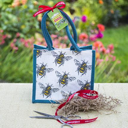 Bee design jute bag