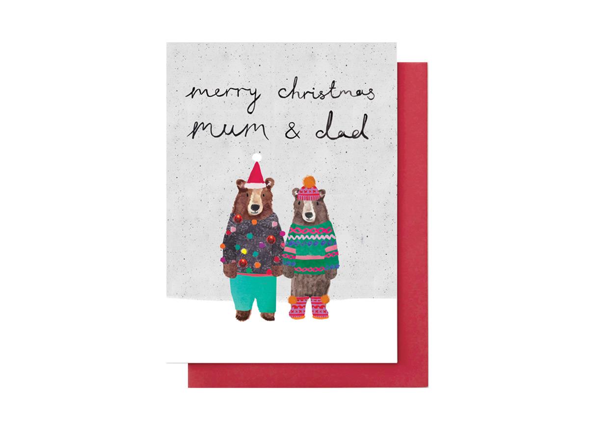 Merry Christmas mum & dad card   Eden Project Shop