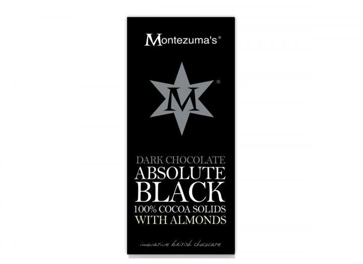 Montezuma's absolute black dark chocolate with almonds