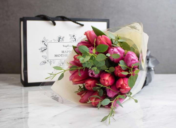 A mother's love posy, hand-tied by Tregothnan especially for Mother's Day