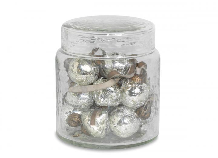 Adisa bauble jar in antique silver from Nkuku