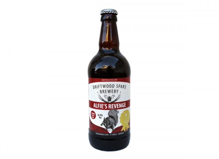 Alfie's Revenge ale, brewed in Cornwall by Driftwood Spars Brewery