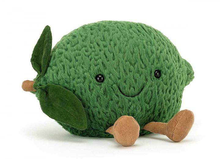 Amuseable lime cuddly toy from Jellycat
