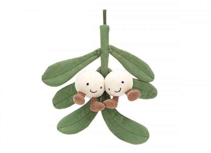 Amuseable mistletoe cuddly toy from Jellycat