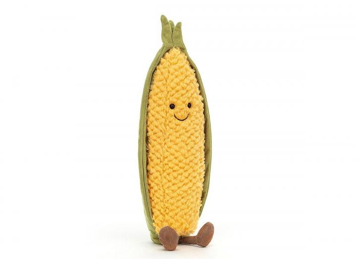 Amuseable sweetcorn cuddly toy from Jellycat