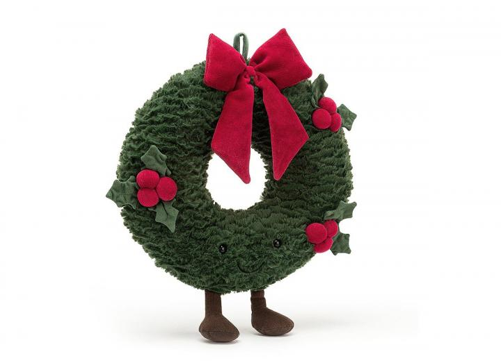 Jellycat Amuseable Wreath, part of their 2020 Christmas collection