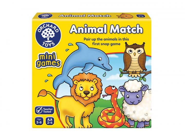 Animal Match mini game from Orchard Toys