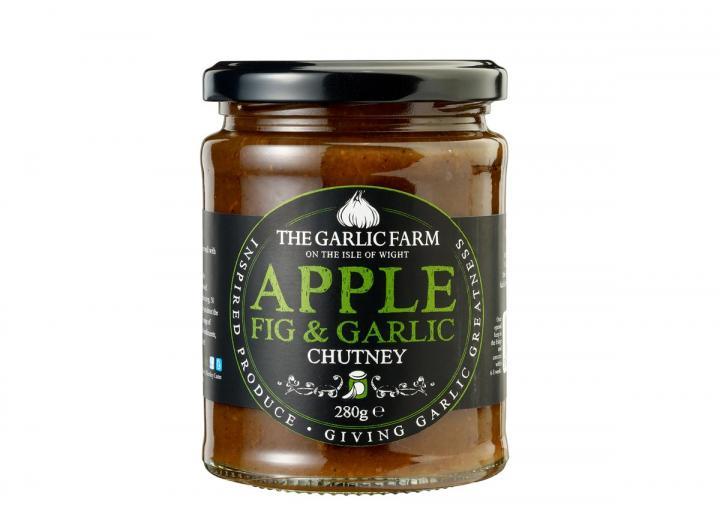 Apple, fig & garlic chutney from The Garlic Farm