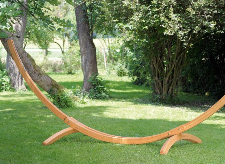 Arcus wooden hammock stand