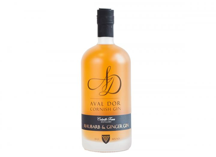 Aval Dor rhubarb & ginger gin from Colwith Farm Distillery in Cornwall