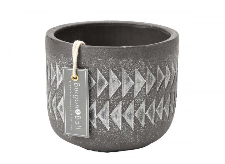 Aztec print large plant pot from Burgon & Ball
