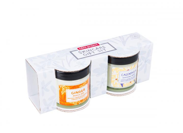 Ginger muscle and calendula soothing cream gift set