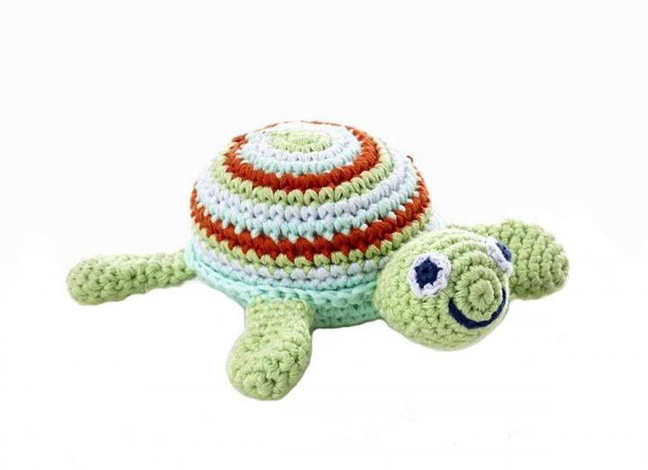 Crochet turtle rattle fair trade