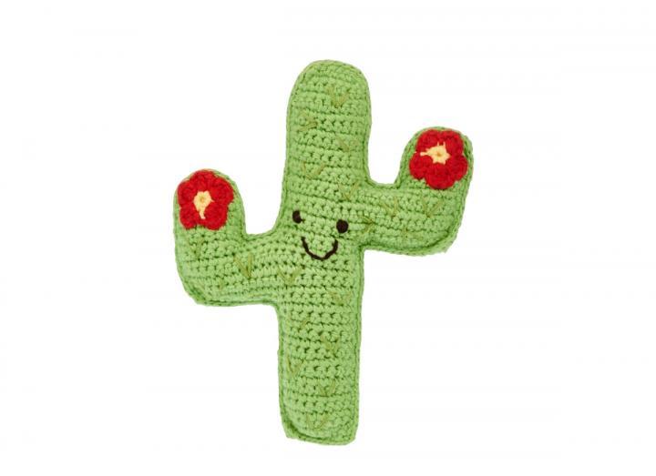 Crochet cactus rattle fair trade