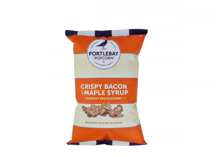 Bacon & maple syrup popcorn from Portlebay Popcorn