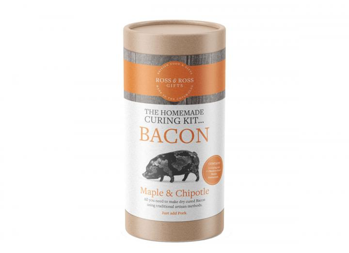 The homemade bacon curing tube…maple & chipotle