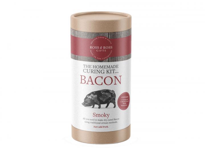 The homemade bacon curing tube…smoky