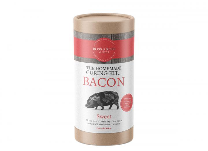 The homemade bacon curing tube…sweet