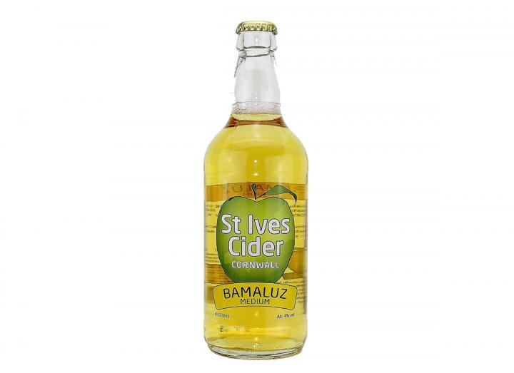 Bamaluz medium cider, produced in Cornwall by St Ives Cider