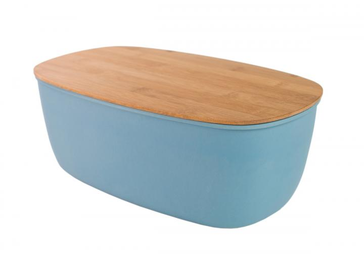 Slate blue bamboo fibre bread bin