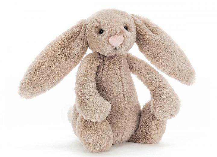 Bashful beige bunny cuddly toy from Jellycat