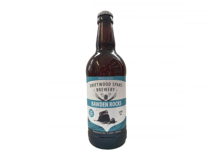Bawden Rocks ale, brewed in Cornwall by Driftwood Spars Brewery