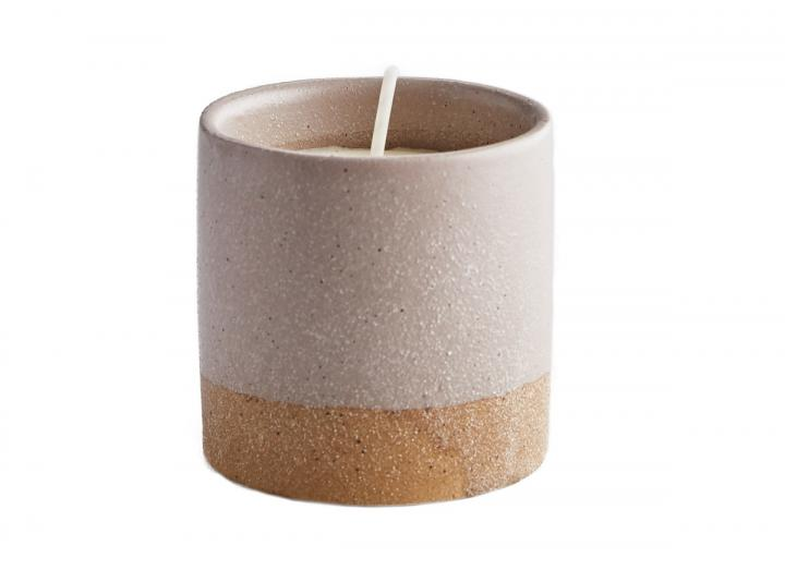Bay & rosemary sand pot candle from St Eval Candles in Cornwall