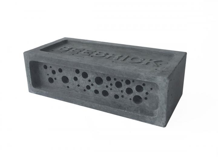 Bee brick in charcoal colour