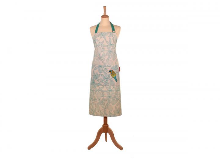Cotton apron with a European bee-eater bird design