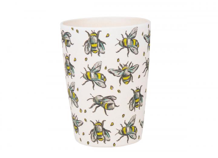 Bee print bamboo beaker, an Eden Project exclusive