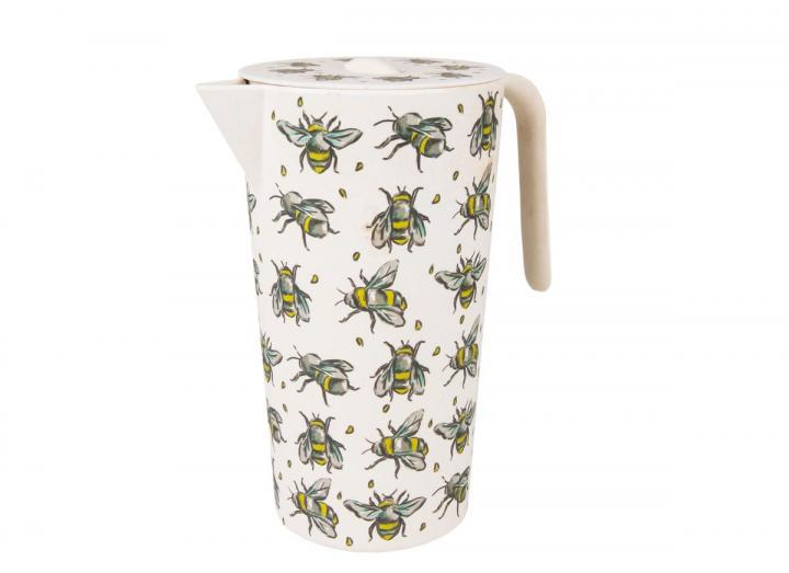 Bee print bamboo lidded jug, an Eden Project exclusive design