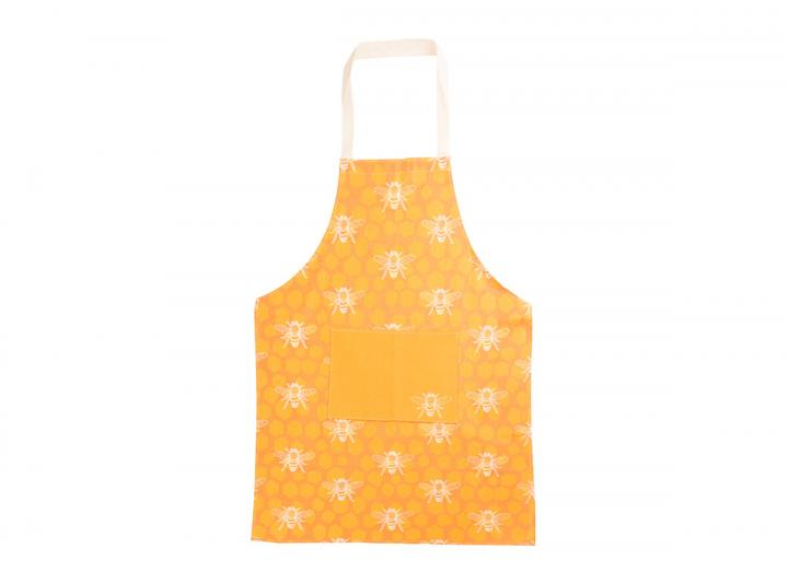 Eden Project bee print organic cotton apron