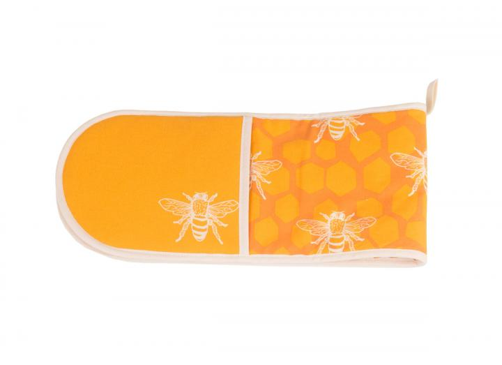 Eden Project bee print organic cotton double oven glove