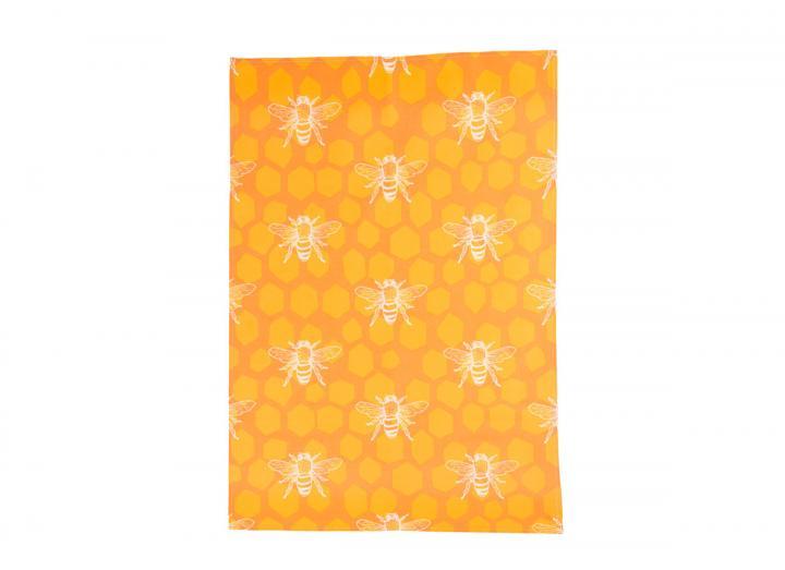 Eden Project bee print organic cotton tea towel