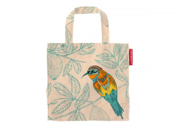 Bee-eater design small canvas bag