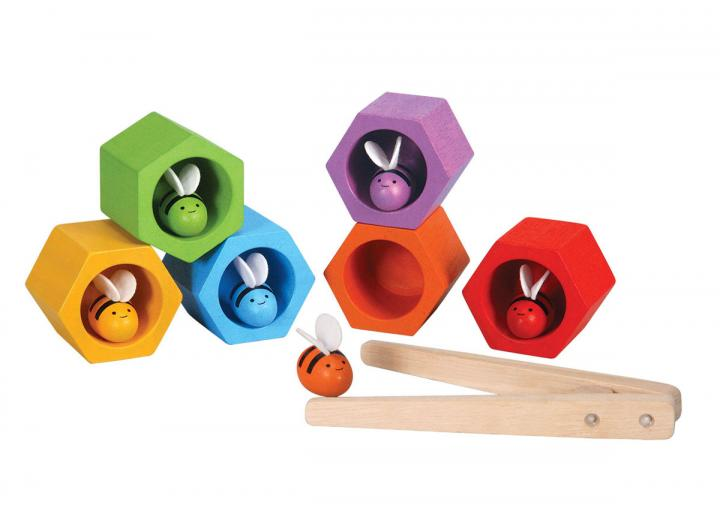 Plan Toys beehives bright