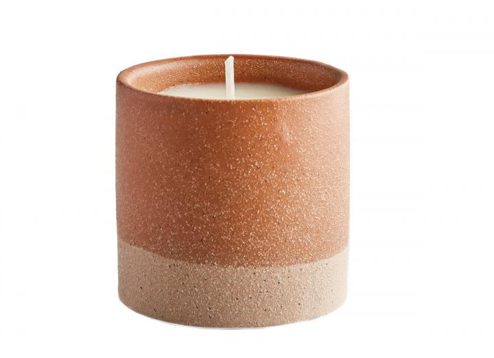 Bergamot & nettle scented sand pot candle from St Eval Candles