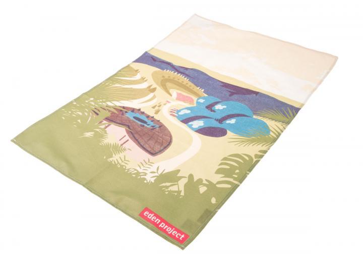 Biome design tea towel