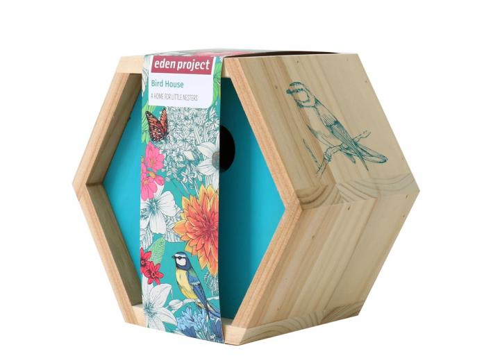Eden Project branded wooden bird house. A home for little nesters.