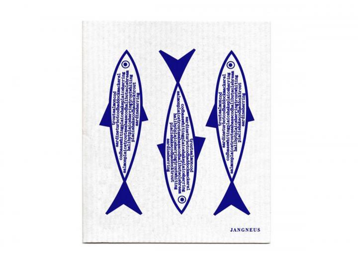 Blue fish design, Jangneus biodegradable dishcloth