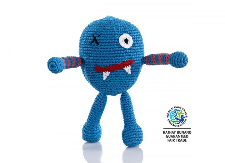 Blue alien rattle
