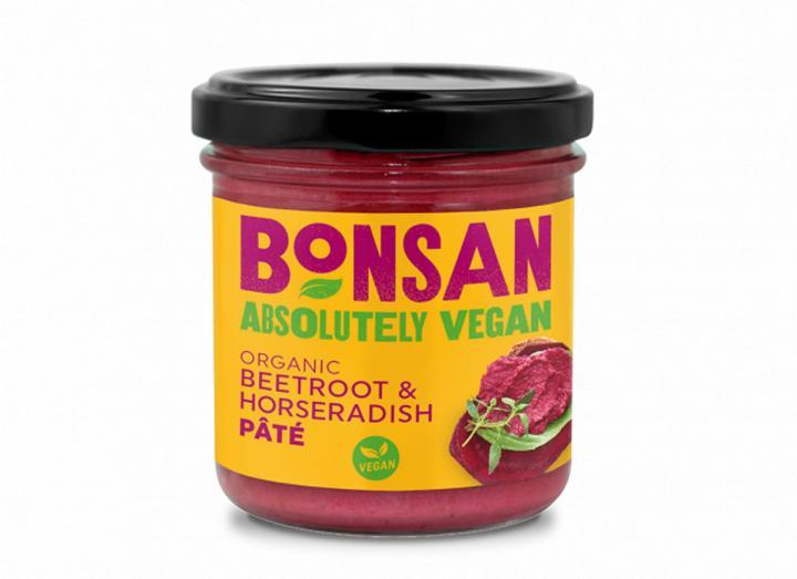 Bonsan organic beetroot & horseradish pate 130g