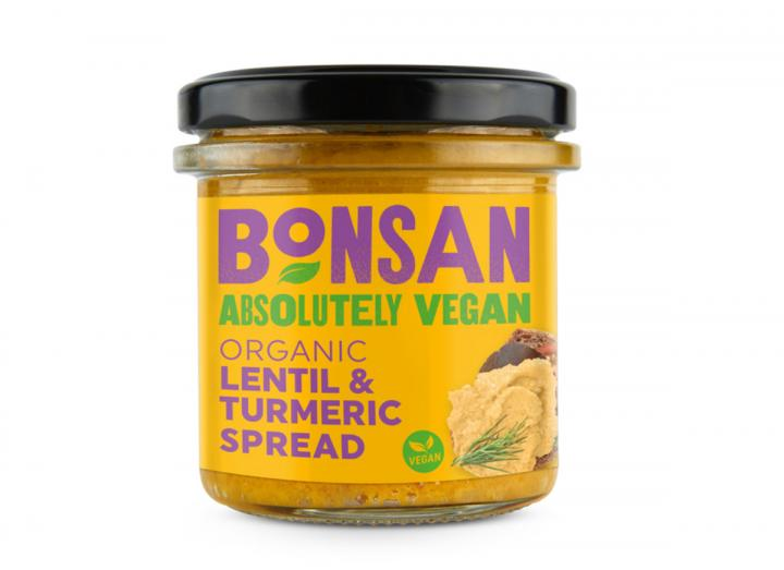 Bonsan organic lentil & turmeric spread 140g