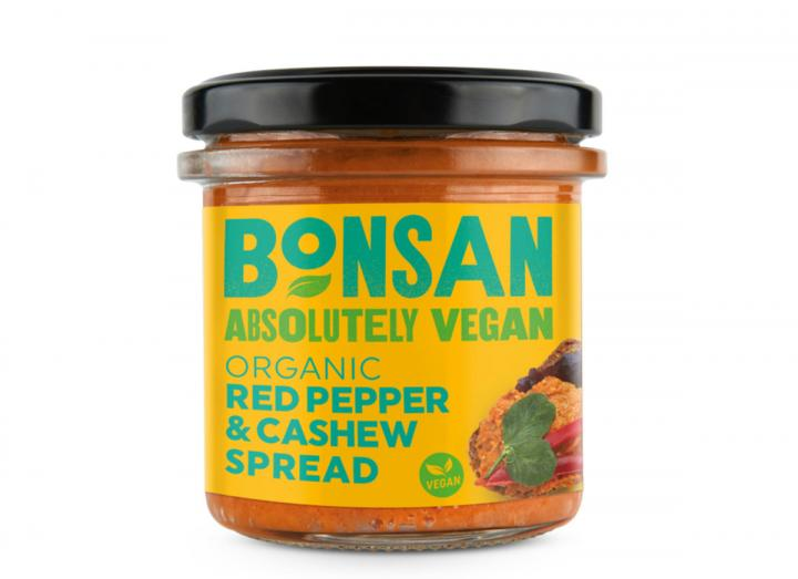 Bonsan organic red pepper & cashew spread 130g