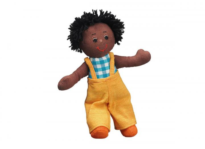 Lanka Kade boy doll black skin black hair