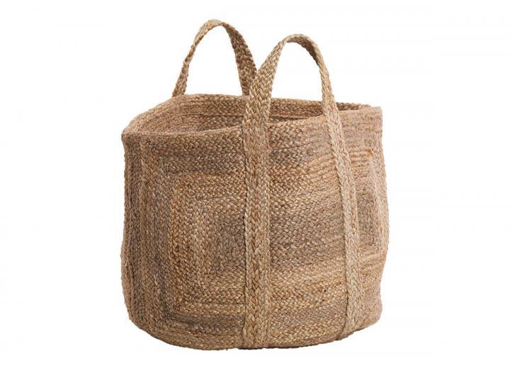 Braided hemp storage basket from Nkuku