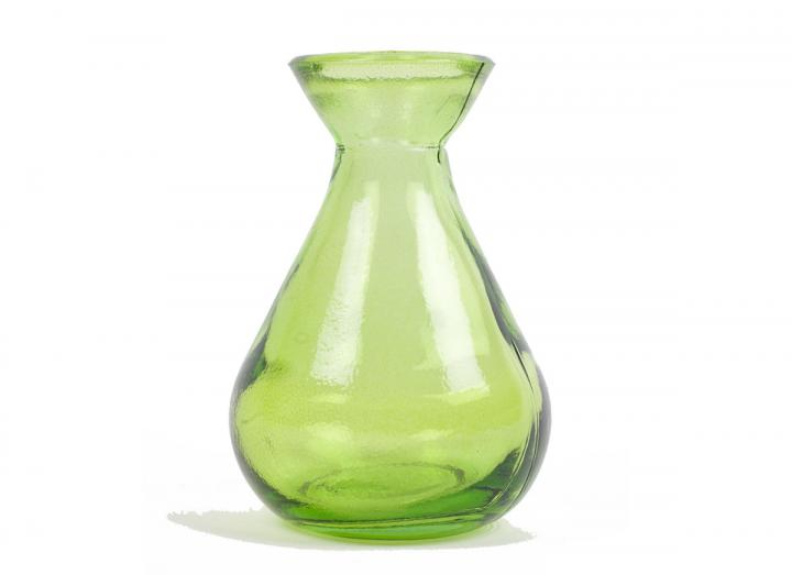 Green recycled glass bud vase