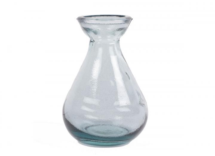 Grey recycled glass bud vase