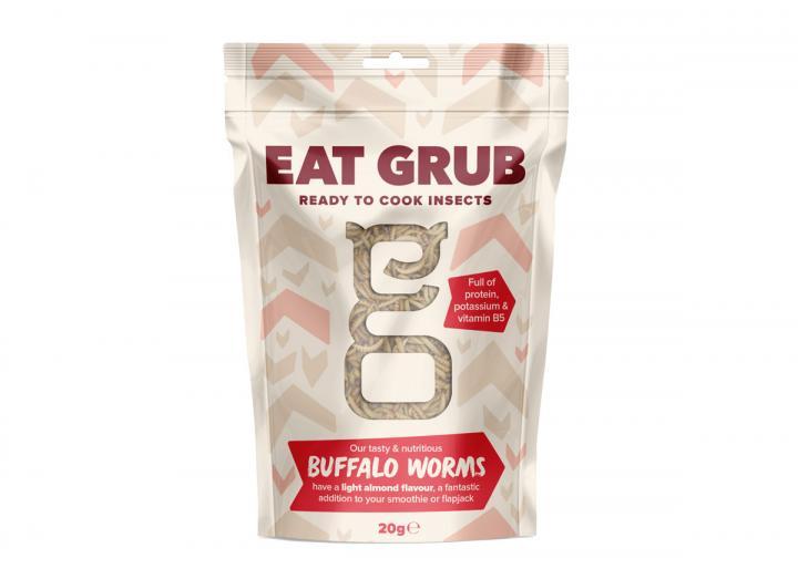 Edible buffalo worms from Eat Grub